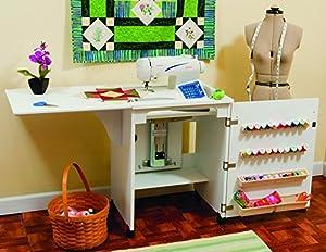 Mueble para máquina de coser- Senatra en Blanco de Arrow Cabinets