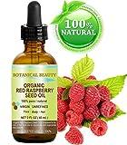 Himbeersamenöl Rote BIO. 100% reine / natürliche / unverwässert / vierge / unraffiniertes kaltgepressten Trägeröl - 60 ml. Für Haut, Haare, Lippen und Nagelpflege.