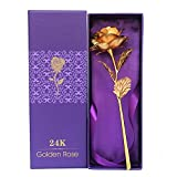 Youbella Gold Plated Rose Flower With Gift Box (Gold)