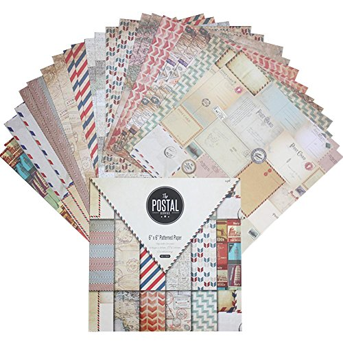 ook Papier Account Karte machen Hintergrund Papier Dekoration Scrapbook DIY Papier Album Scrapbook Grußkarte Hintergrund Papier 15,2cm einseitiges Muster Papier ()