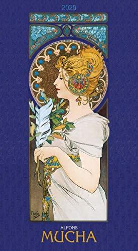 Alfons Mucha 2020 - Bildkalender (33 x 60) - Kunst-Kalender - mit stilvollem Glitzereffekt - Jugendstil - Wandkalender (Jugendstil-planer)