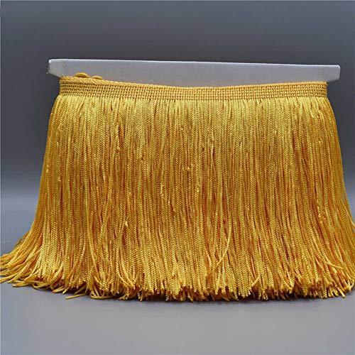 EVEYYLS 10 Meter Spitze Fringe Trim Quaste Fringe Trimmen Für DIY Latin Kleid Bühne Kleidung Costura Zubehör Spitzenband, Gold -