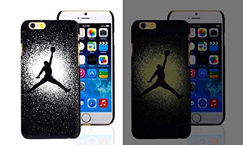 RONNEY'S Air Jordan Luminous PC BLACK Hard Case for Apple Iphone 6/6S DESIGN 3 Design 2
