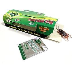 Green Leaf® - Trampa Adhesiva Cucarachas - Juego de 4 - sin Danger para el hombre