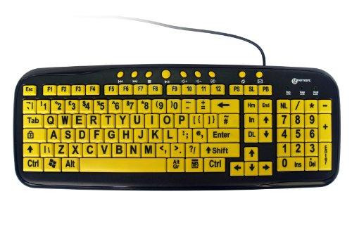 geemarc-multimedia-big-letter-yellow-keyboard-uk-version