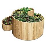 bellissa Kräuterspirale Holz -95480 - Kräuterschnecke aus Nadelholz - Vormontierter Bausatz inkl. Trennfolie - 120 x 120 x 20/80 cm