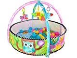 Iso Trade Spieldecke Babydecke Laufstall Krabbeldecke Spielbogen Spielmatte Zoo #5639