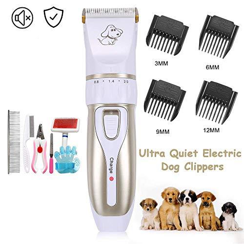 Electric Clippers Hundepflege-Haarschneidemaschinen, kabelloses, verstellbares Rasiergerät für Haustiere