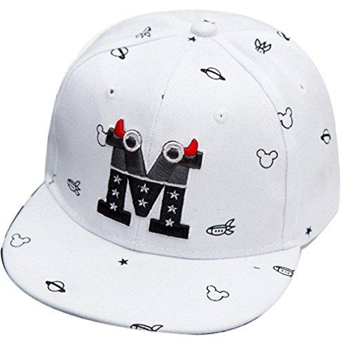 Belsen Kind Baby Teufel Ox Horn Baseball Kappen Cap Truckers Hat (weiß)