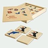 DIDA - Memory Tiere. Ein Memory-Spiel aus Holzteilen in Einer Holzbox