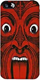 Snoogg Aztec Face Designer Protective Back Case Cover Forapple Iphone 4 / 4S