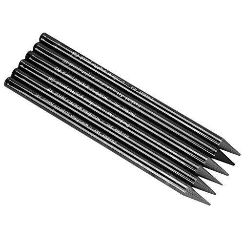 6Stück Graphit Bleistifte woodless Sticks Sketch Graphit-Bleistift, Kunst-Dekoration für Kinder Erwachsene Anfänger, Künstler, Design Arbeiter, Schwarz, weich mit Bleistift-Set (HB/2B, 4B/6B/8B EE)