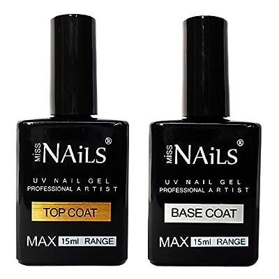 Miss Nails - LARGE 15ml TOP and BASE COAT For UV LED Nail Gel Soak Off Polish