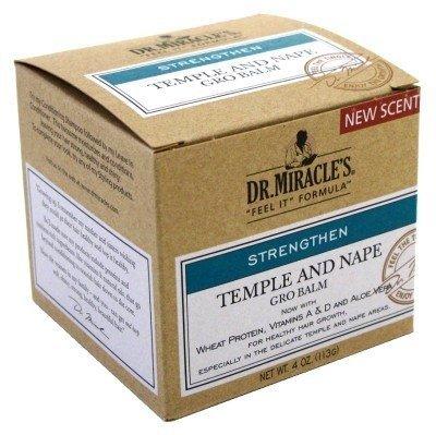 Dr. Miracles Strengthen Temple & Nape Gro Balm 4oz (2 Pack) by Dr. Miracles - Nape Gro Balm