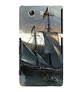 For Sony Xperia Z4 Compact :: Sony Xperia Z4 Mini beautiful ship ( beautiful ship, ship, boat, mountain, river, sea ) Printed Designer Back Case Cover By FashionCops