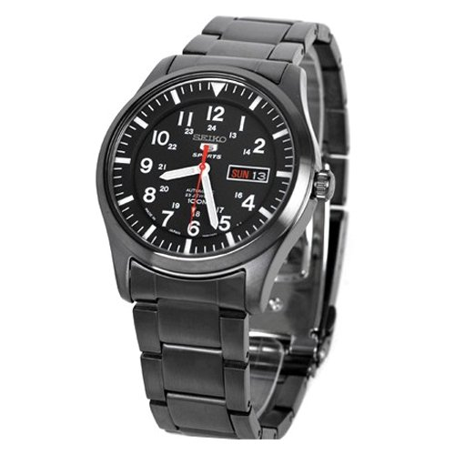 Seiko 5 Sports Black Automatic Gents SNZG17J1