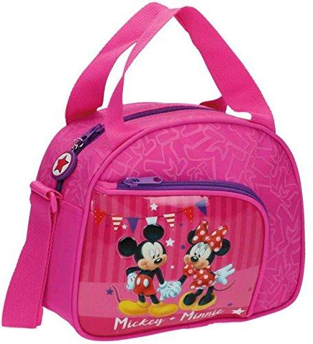 Disney Mickey & Minnie Party Neceser de Viaje, 4.37 Litros, Color Rosa