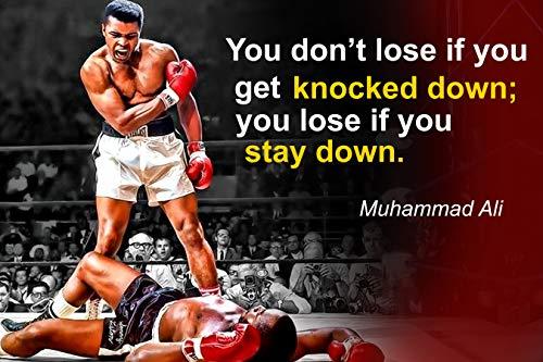 Vincit Veritas Muhammad Ali Poster Zitat Boxen Sport Zitate Dekoration Wachstum Mindset Dekor Lernen Klassenzimmer Lehrer Dekoration P044 (Poster Mlk)