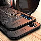 Mobistyle Shockproof Leather Textured with Camera Protection Flexible TPU Back Cover Case for Samsung M30 (Leather…