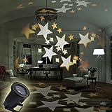 GESIMEI LED Ziehen um Warm Weiß Star Spotlights Innen / Außen Erdung Rasen Beamer Lampe Wasserdicht funkelnd Landschaft Lampe Dekorativ Beleuchtung für Weihnachten Urlaub Party Zuhause Terrasse Mauer Baum Stufe