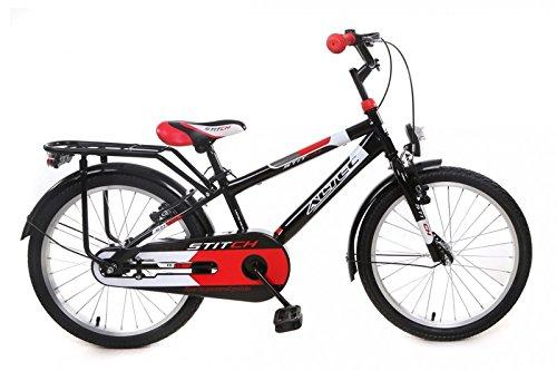 """Altec 20\"""" 20 Zoll Kinder Kinderfahrrad City Jungen Fahrrad Bike Rad Kinderfahrrad Citybike Cityfahrrad Rücktrittbremse Stitch SCHWARZ ROT"""
