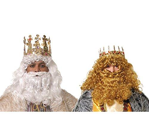 Barba de Rey Mago blanca o rubia de alta Calidad