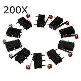 ExcLent 200 Stücke Micro Endschalter Mit Rollenhebel Kw12-3 Öffnen/Schließen Schalter 5A 125 V