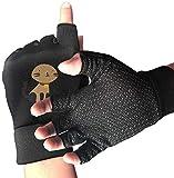 light Saber DUN antisdrucciolevoli mezze dita Guanti del fumetto del gatto di esercitazione Guanti per sollevamento pesi Palestra Training Fitn Bicicletta