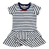 Leela Cotton Baby/Kinder Matrosenkleidchen aus reiner Bio-Baumwolle (98/104)