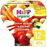 Hipp Organique Pomme De Terre, Potiron & Poulet Scrumble 12 + Mois 230G - Paquet de 4