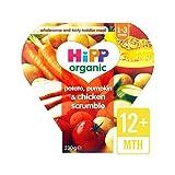 Hipp Bio-Kartoffel, Kürbis & Huhn Scrumble 12+ Monate 230G - Packung mit 6