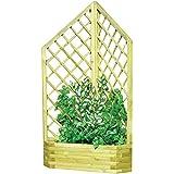 Traliccio con fioriera angolare legno trattato esterno arredo giardino 07625
