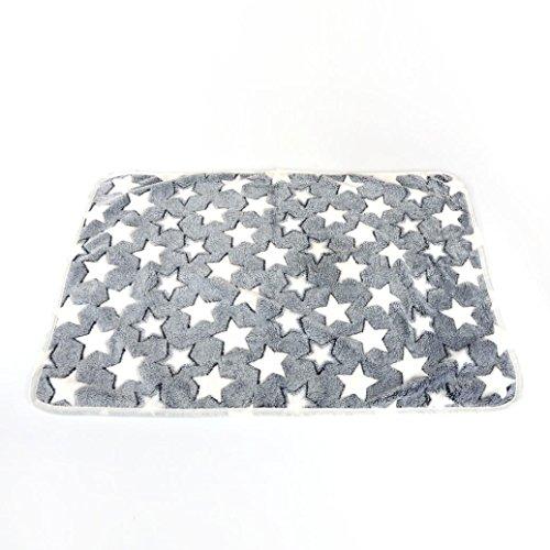 erthome Haustier Hund Katze Bettauflage Decke atmungsaktives Haustier Kissen weiche warme Schlafmatte (S (40 x 60CM), Grau) Liege, Couch Frühling