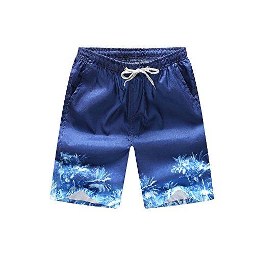 Metal Dragon 77th Herren Badehose 50,8 cm Outseam Trendy Quick Dry Board Beach Shorts Badeshorts mit Taschen - Mehrfarbig - Large(Taille:33/36