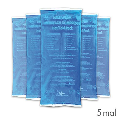 5 x Kalt-Warm Mehrfachkompressen | 12x29cm | Set | Mikrowellengeeignet -