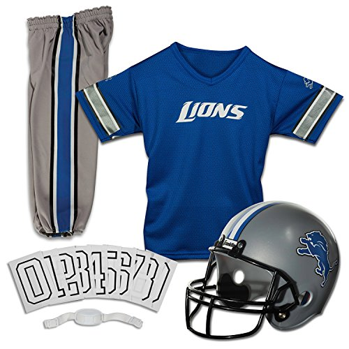 Franklin Sports NFL Deluxe Jugenduniform-Set M Detroit Lions