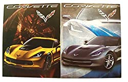 Muscle Car 2 Folder Set GM Corvette (Silver 2015 Corvette Stingray Convertible, Yellow 2015 Corvette Z06)