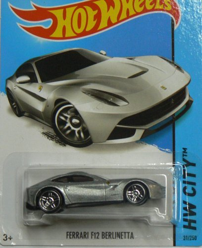Hot Wheels HW City Ferrari F12 Berlinetta - Silver on Short Card by Hot Wheels