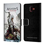 Head Case Designs Ufficiale Assassin's Creed Connor Ascia III Arte Chiave Cover a Portafoglio in Pelle per Samsung Galaxy J6 Plus (2018)