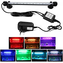 XCSOURCE® Multicolor Control Remoto RGB LED Subacuático Submarino Acuario LED Luz Impermeable Aquarium Lámpara 28cm OS713