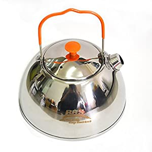 5176bGoVhtL. SS300  - RSB BRS 0.6L Outdoor Camp Picnic Cookware Mini Teapot Stainless Steel Kettle Coffee Pot