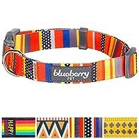 Blueberry Pet Collier pour chien réglable avec nautique drapeaux, Flame point de croix en or, ou Motif arc-en-ciel, Laisse assortis disponibles séparément