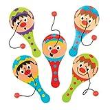 Racchette con Elastico Elfi Natalizi per Bambini, Giochi e Giocattoli per Bambini Piccoli per un Natale Perfetto (Confezione da 5)