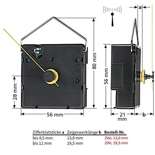 """Funkuhrwerk FK """"German Technology"""" Zeigerwerklänge bis 19,5 mm – C336462 - 4"""