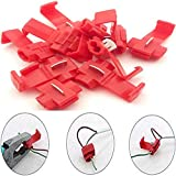 DIY Crafts Plastic Wire Terminals Quick Wiring Connector Cable Clam for Do it Your Self (Red) Pack of 8 Pieces