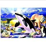 LuoMei Pintura Pintura para el Hogar Decoración del Hogar para Sala de Estar Little Panda 16X20 Pulgadas (40X50 Cm), Taladro Cuadrado