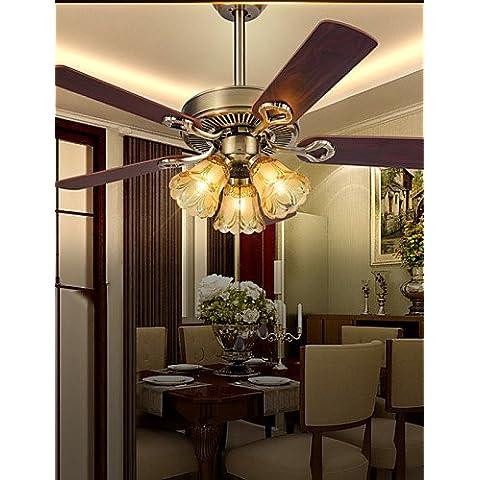 ZHY Retrò Bar ferro luci a soffitto pendente ventilatori luci