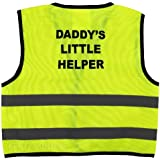 Unisex Childs Hi Vis Vest Kids High Visibility Waistcoat With Daddy's Little Helper Writing At the Back