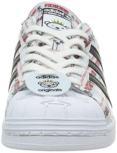 the latest b1c10 37722 Adidas Superstar Nigo Bearfoot uomo, pelle liscia, sneaker bassa Bianco ...