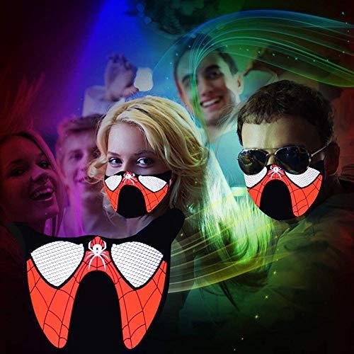 (LED Sound aktiviert Maske, teepao LED Cosplay Masken/Halloween, Weihnachten, Festival, Party/Blitz zu Musik zu halten warm und atmungsaktiv Passform für Outdoor Wandern, Reiten, Joggen gelb)